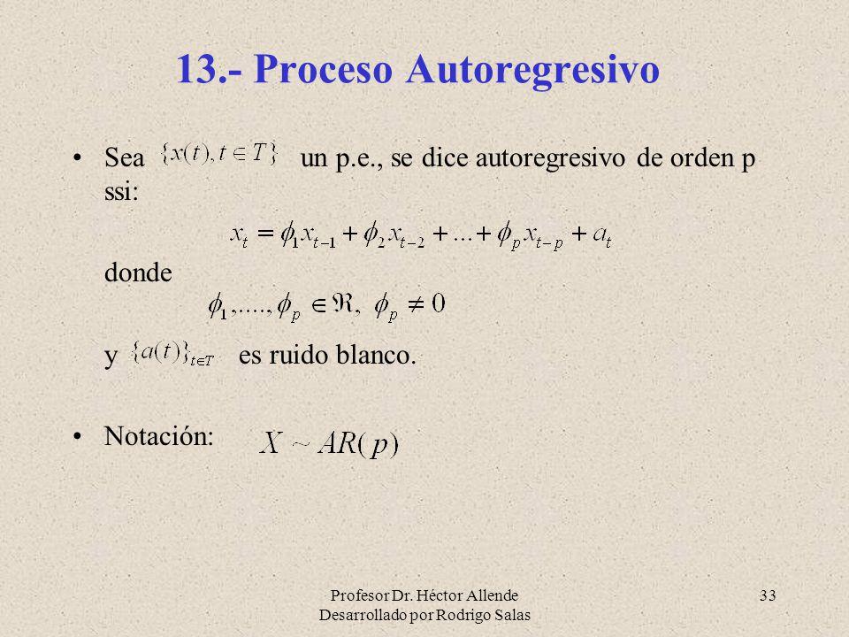 13.- Proceso Autoregresivo