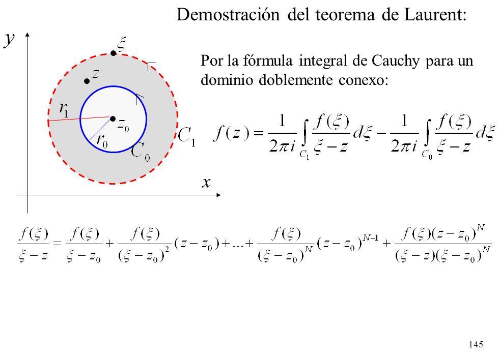 y Demostración del teorema de Laurent: x