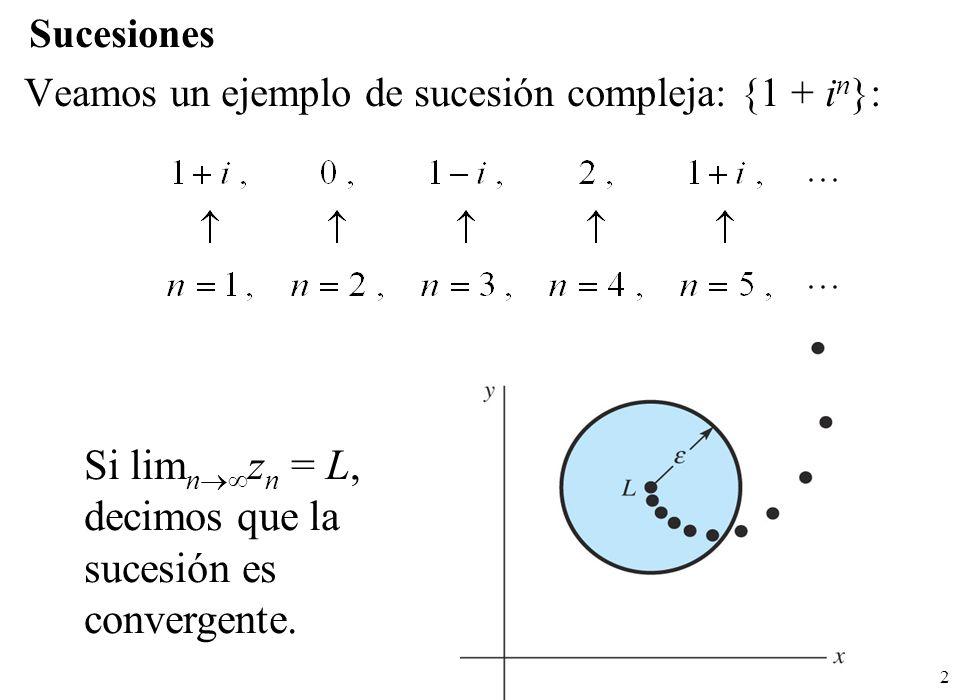 Si limnzn = L, decimos que la sucesión es convergente.