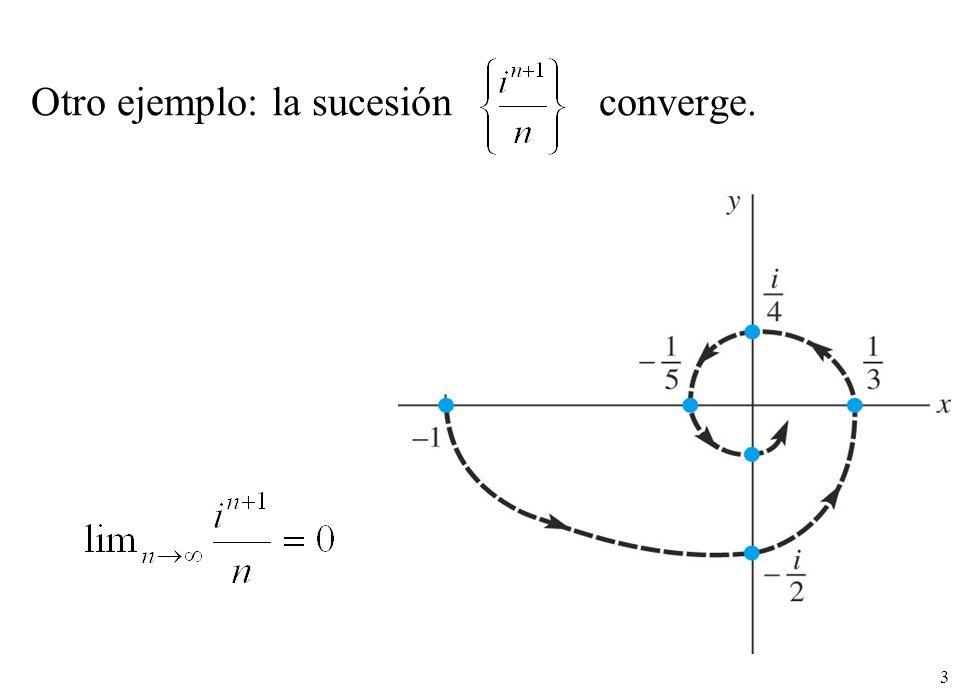 Otro ejemplo: la sucesión converge.