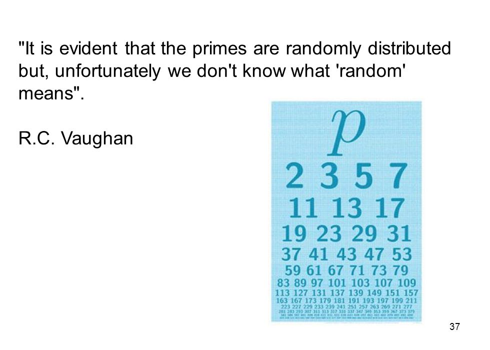 It is evident that the primes are randomly distributed