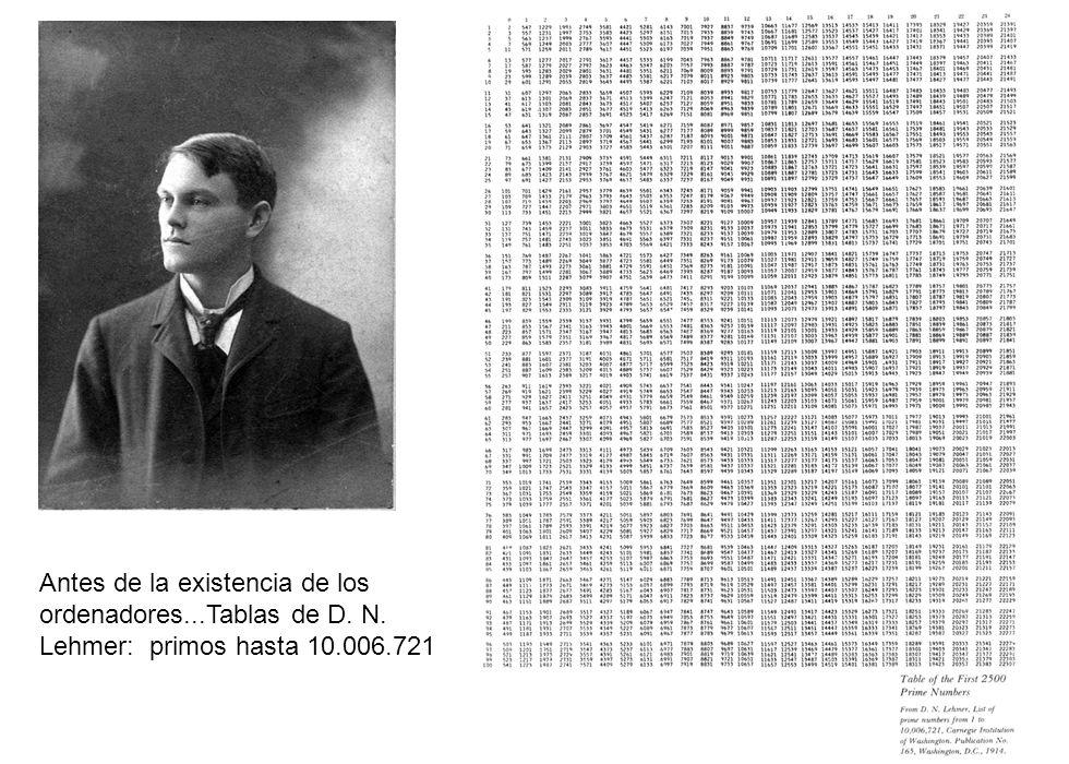 Antes de la existencia de los ordenadores. Tablas de D. N