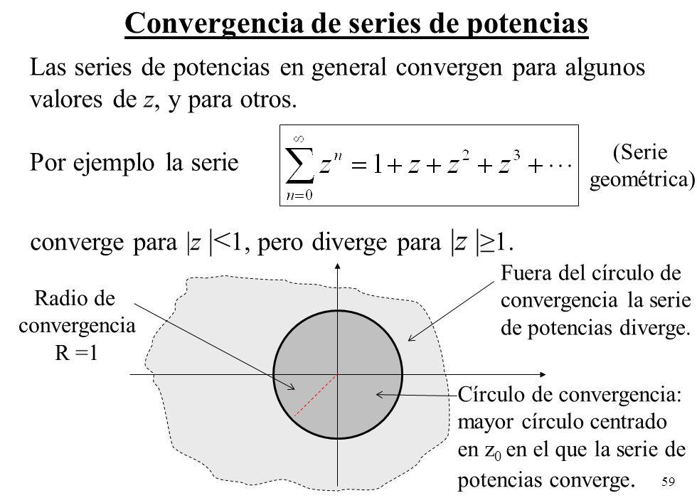 Convergencia de series de potencias