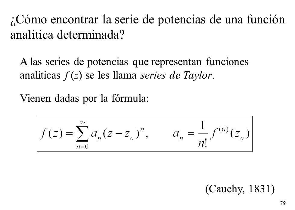 ¿Cómo encontrar la serie de potencias de una función
