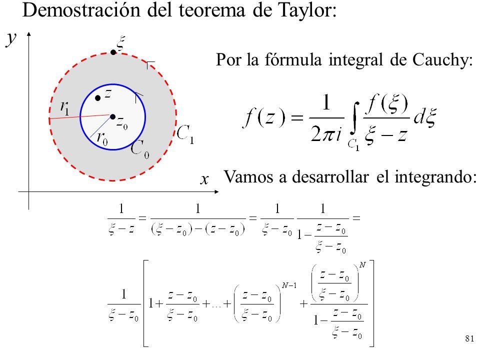 Demostración del teorema de Taylor: y