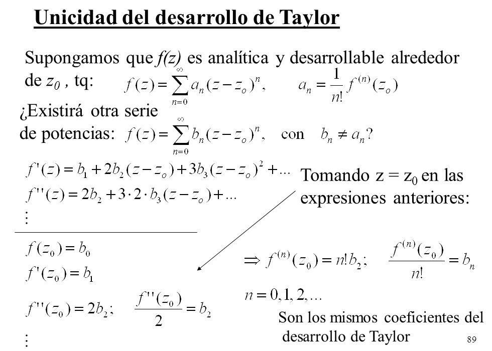 Unicidad del desarrollo de Taylor