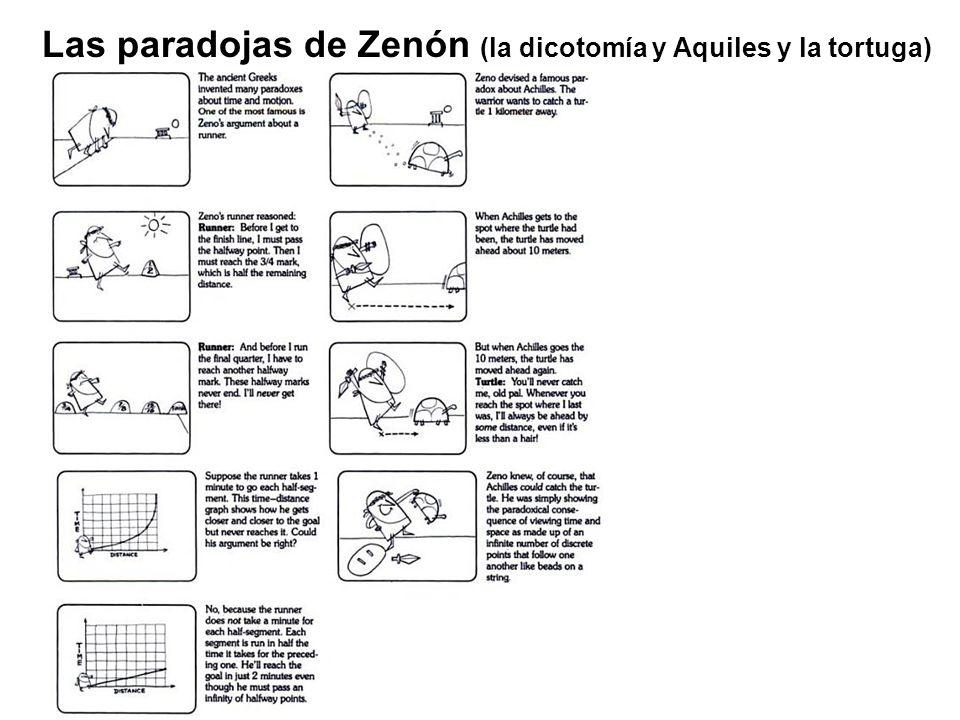 Las paradojas de Zenón (la dicotomía y Aquiles y la tortuga)