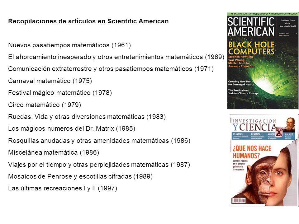 Recopilaciones de artículos en Scientific American