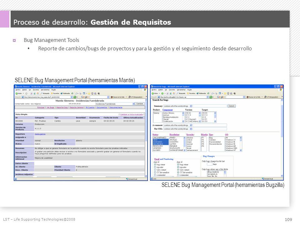 Proceso de desarrollo: Gestión de Requisitos