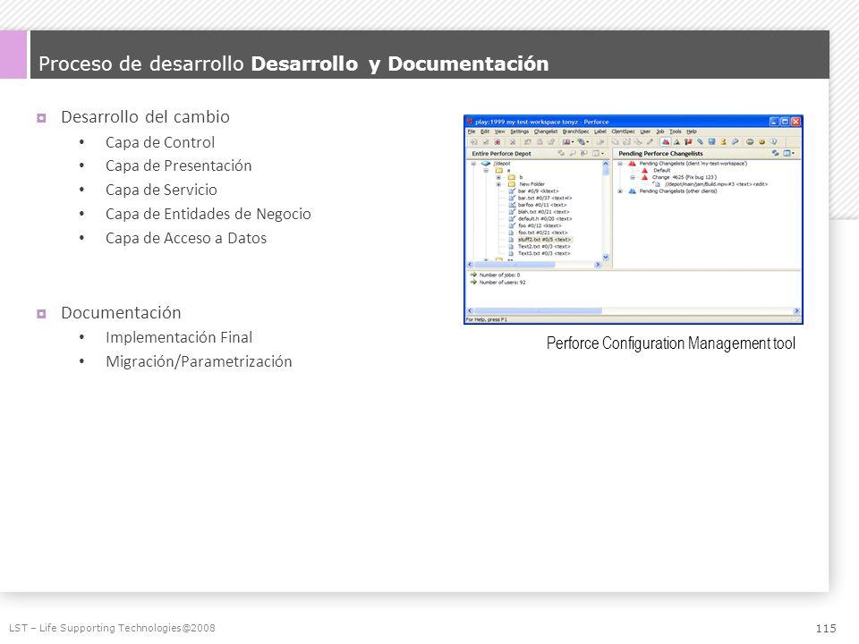 Proceso de desarrollo Desarrollo y Documentación