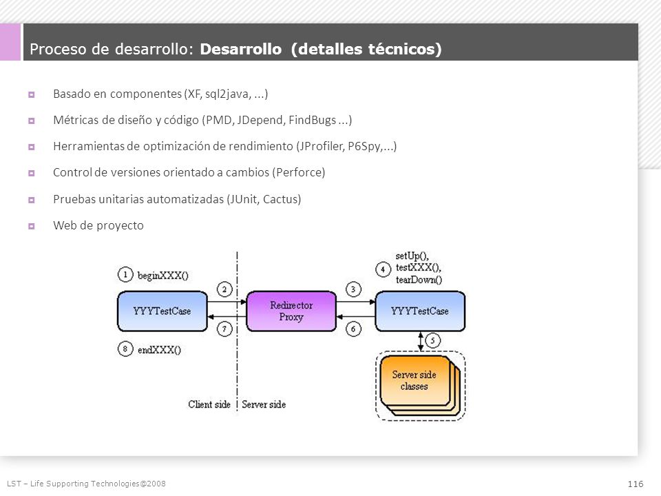 Proceso de desarrollo: Desarrollo (detalles técnicos)