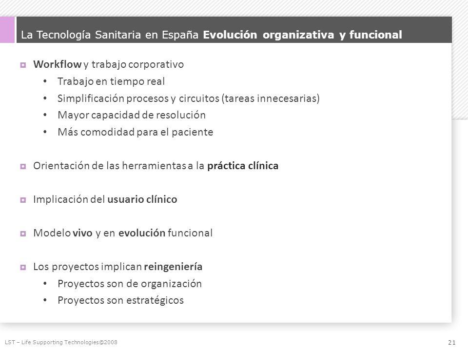 La Tecnología Sanitaria en España Evolución organizativa y funcional