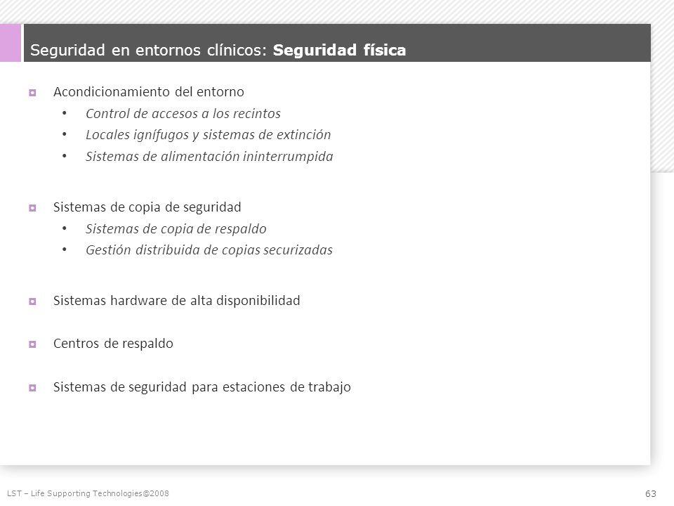 Seguridad en entornos clínicos: Seguridad física