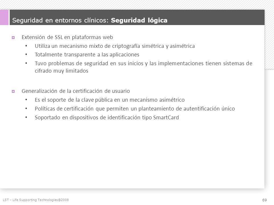 Seguridad en entornos clínicos: Seguridad lógica