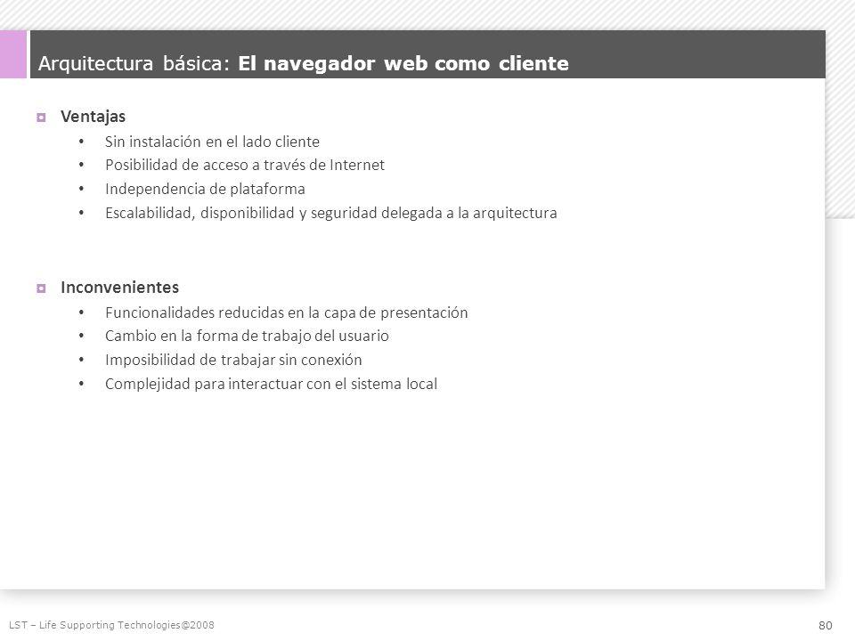 Arquitectura básica: El navegador web como cliente