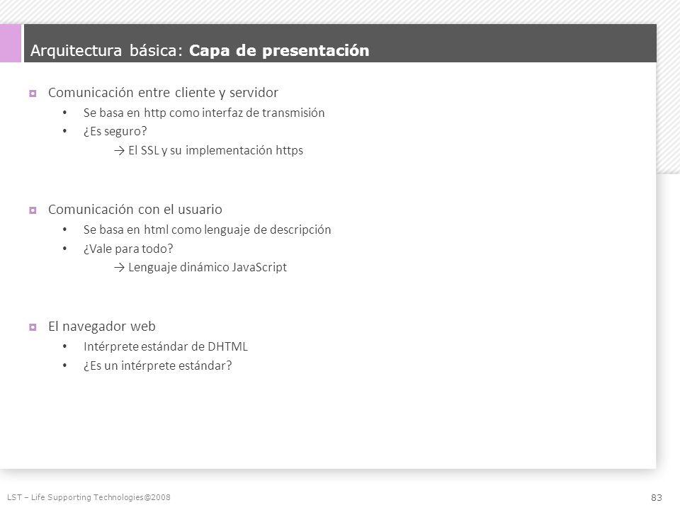 Arquitectura básica: Capa de presentación