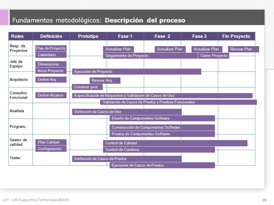 Fundamentos metodológicos: Descripción del proceso