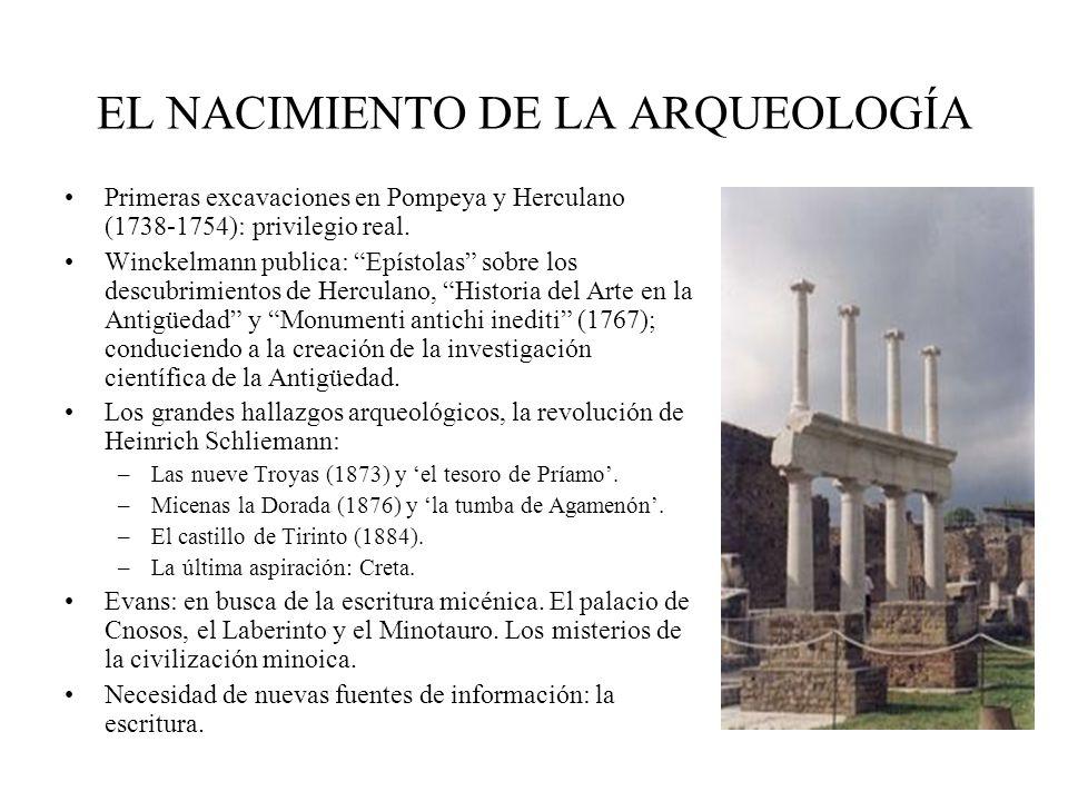 EL NACIMIENTO DE LA ARQUEOLOGÍA
