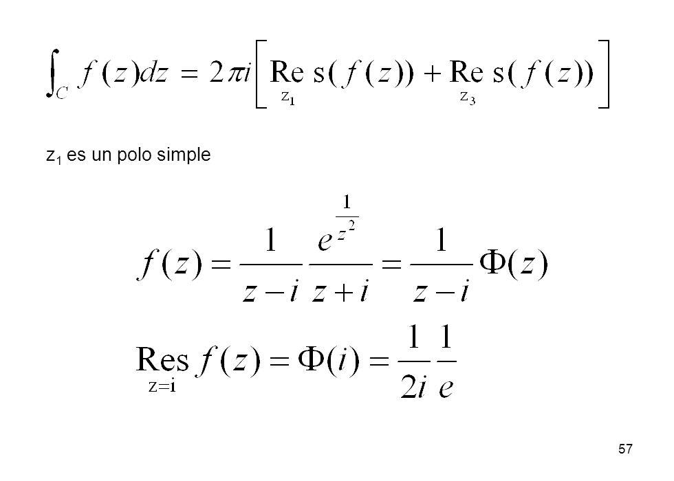 z1 es un polo simple