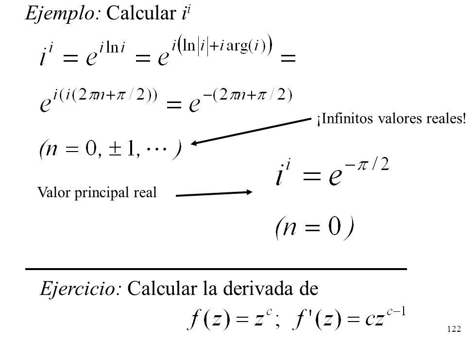 Ejercicio: Calcular la derivada de