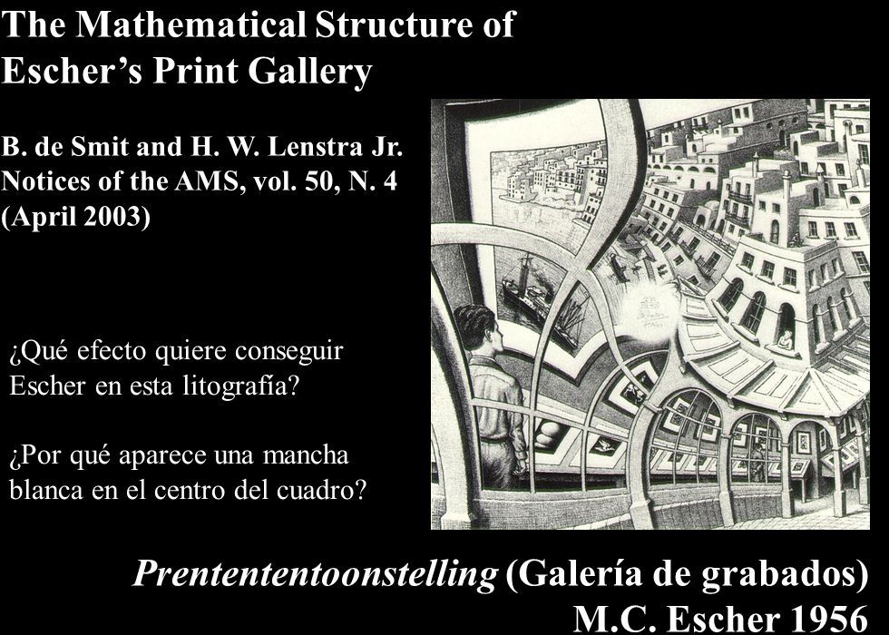 The Mathematical Structure of Escher's Print Gallery