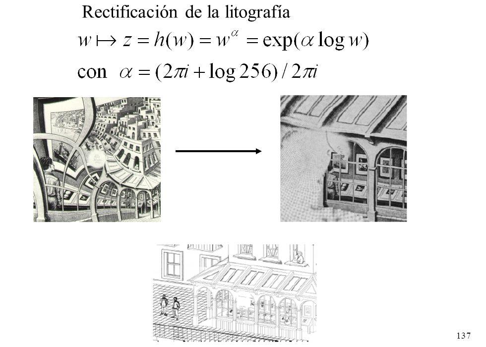 Rectificación de la litografía