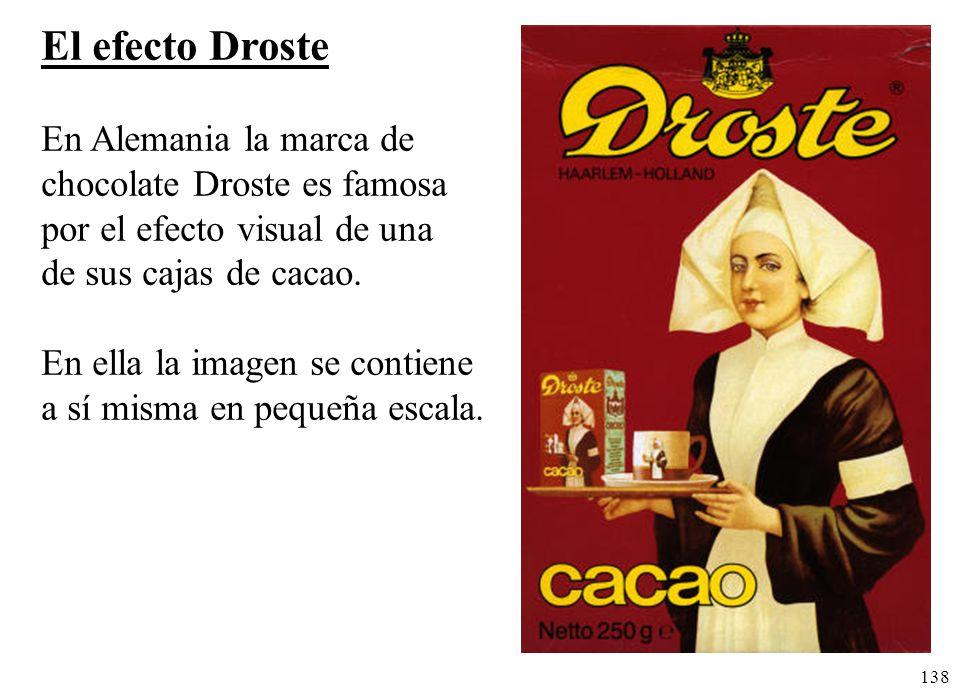 El efecto Droste En Alemania la marca de chocolate Droste es famosa