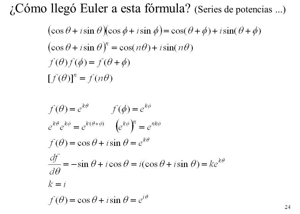 ¿Cómo llegó Euler a esta fórmula (Series de potencias ...)