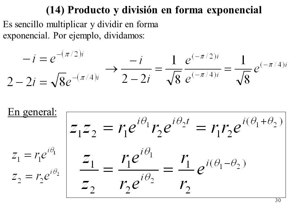 (14) Producto y división en forma exponencial