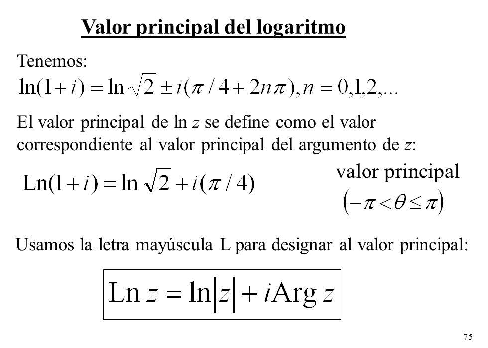Valor principal del logaritmo