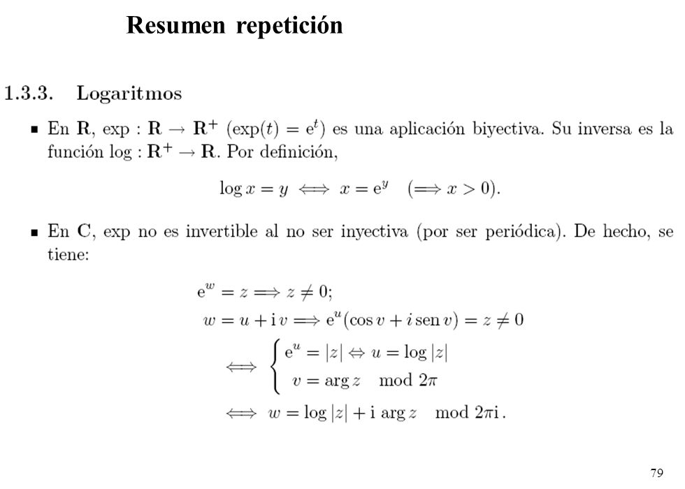 Resumen repetición
