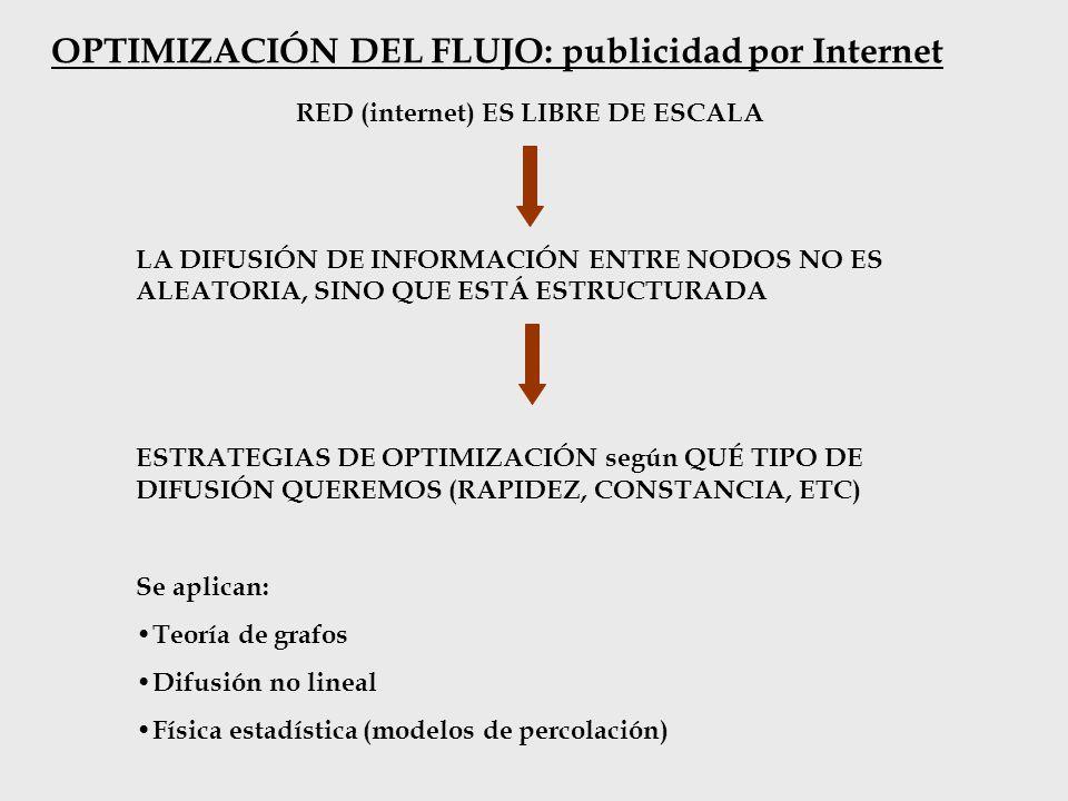 OPTIMIZACIÓN DEL FLUJO: publicidad por Internet