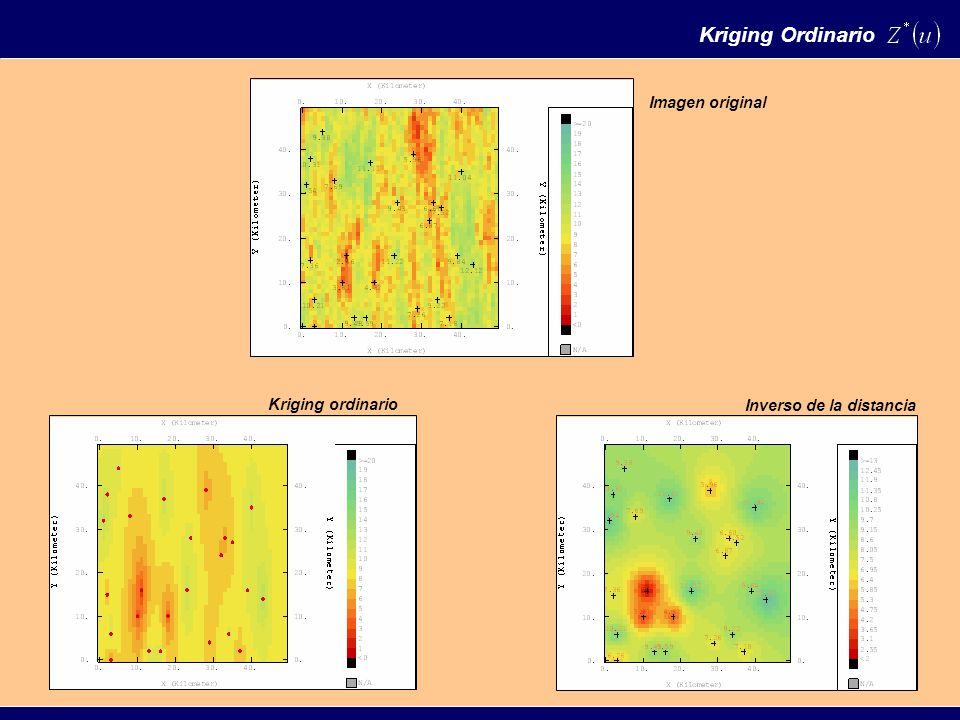 Kriging Ordinario Imagen original Kriging ordinario