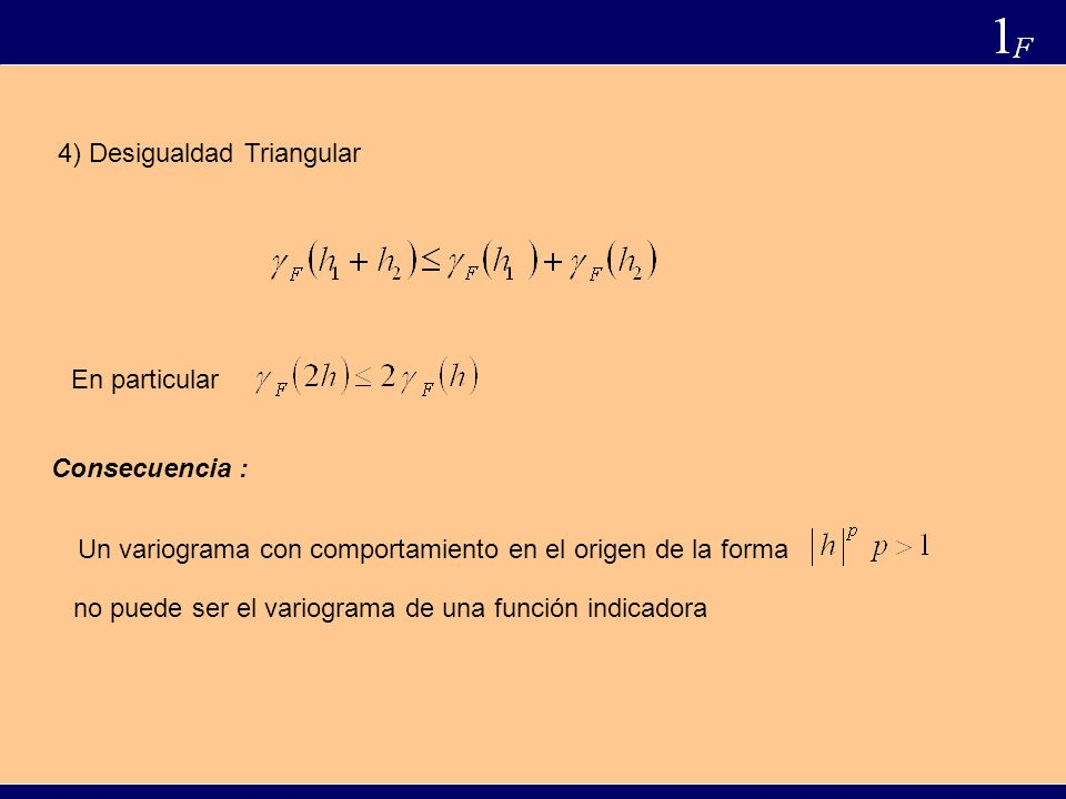 4) Desigualdad Triangular