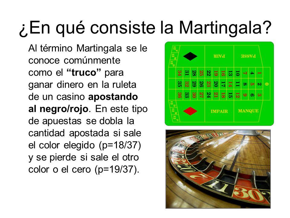 ¿En qué consiste la Martingala