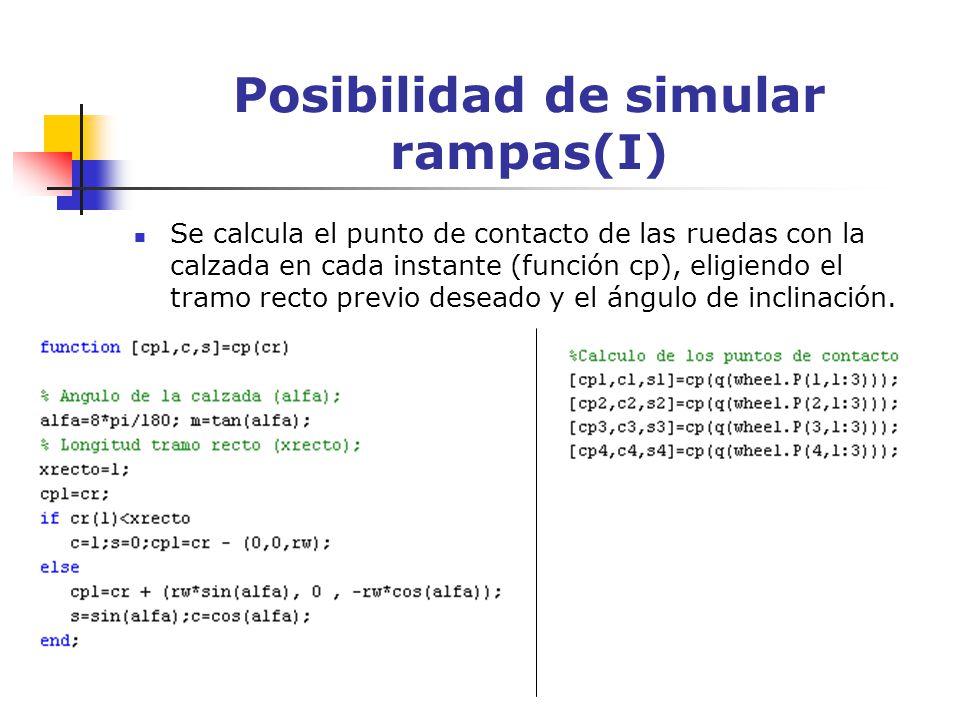 Posibilidad de simular rampas(I)