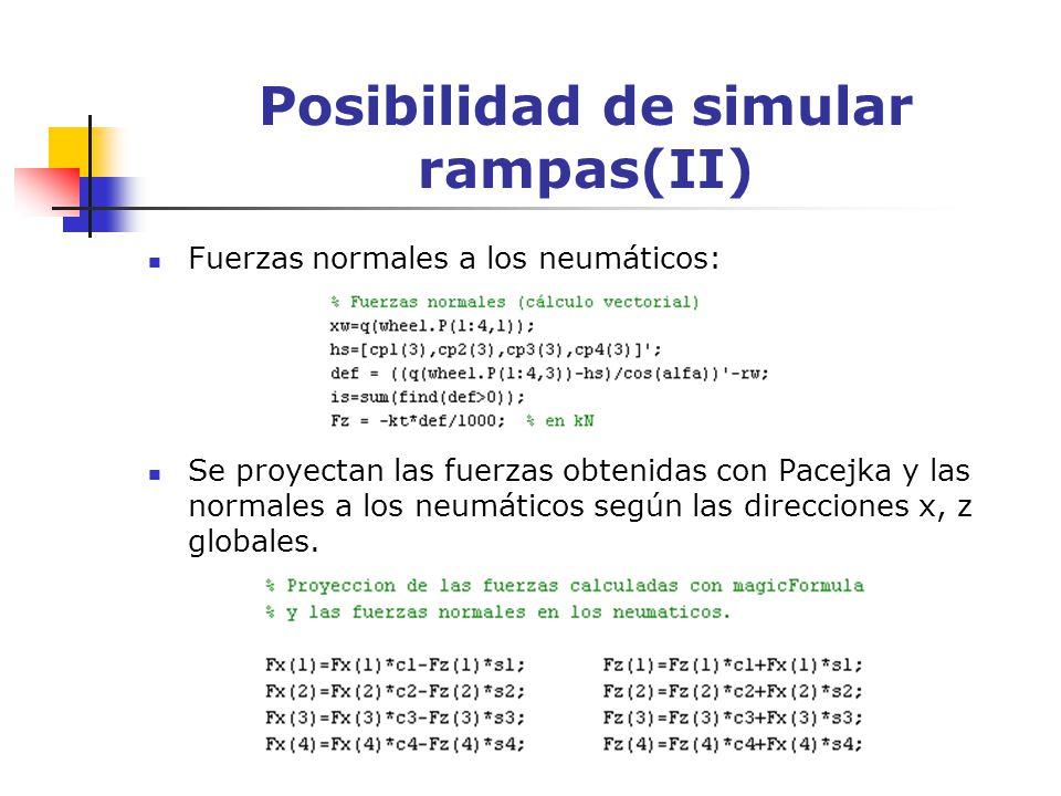 Posibilidad de simular rampas(II)