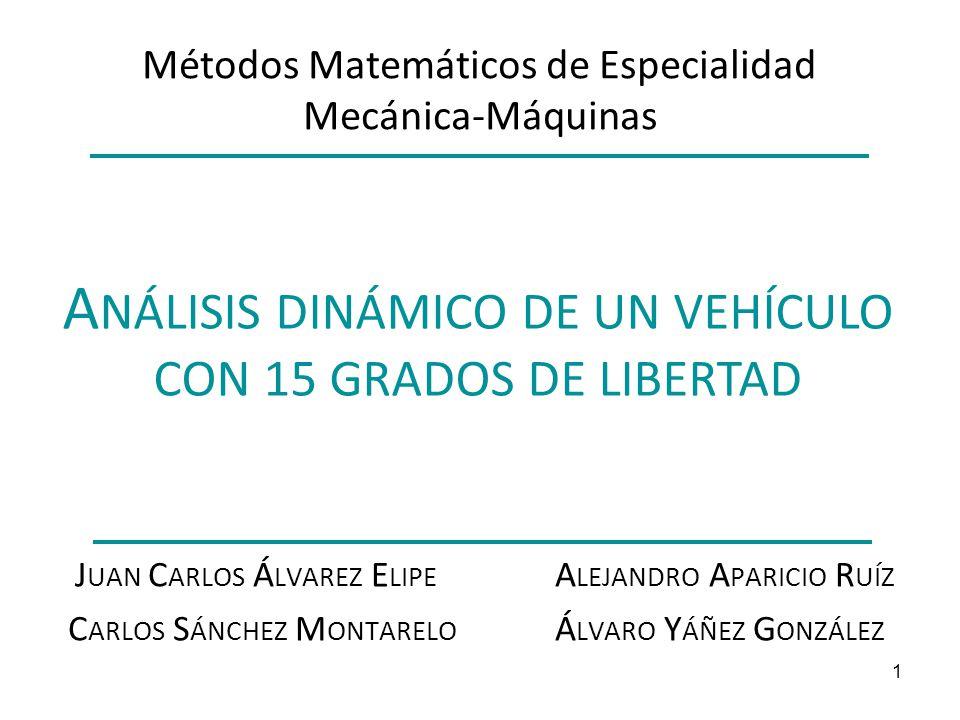 Métodos Matemáticos de Especialidad Mecánica-Máquinas