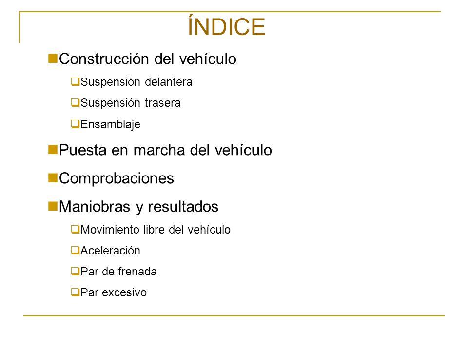 ÍNDICE Construcción del vehículo Puesta en marcha del vehículo
