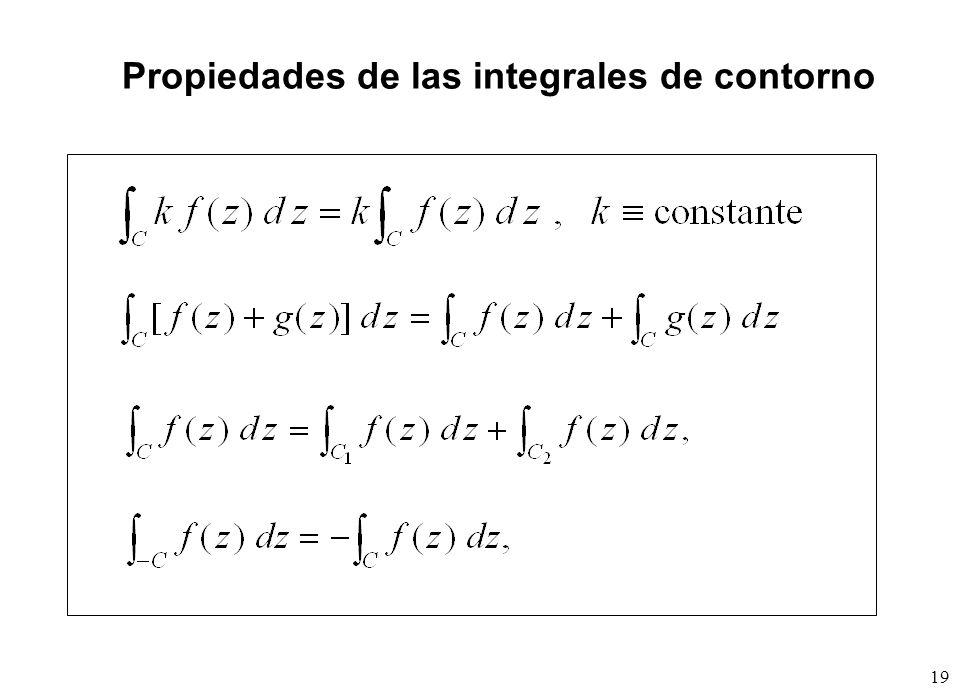 Propiedades de las integrales de contorno