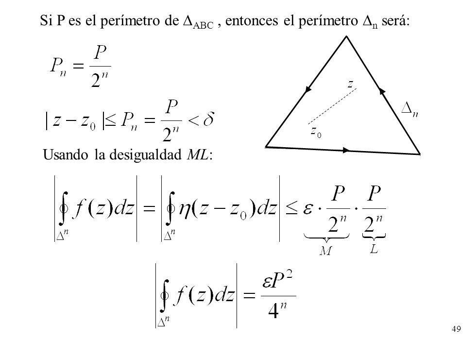 Si P es el perímetro de ABC , entonces el perímetro n será: