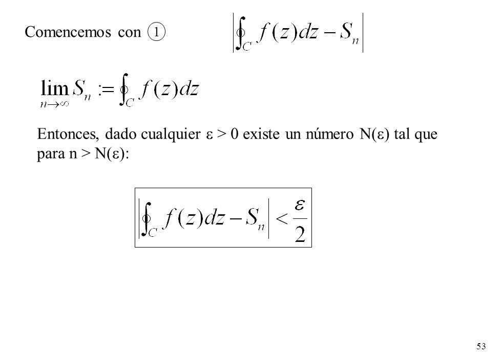 Entonces, dado cualquier  > 0 existe un número N() tal que