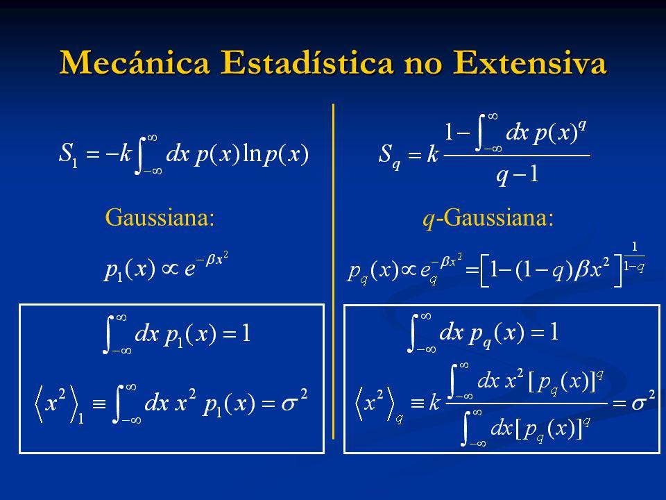 Mecánica Estadística no Extensiva