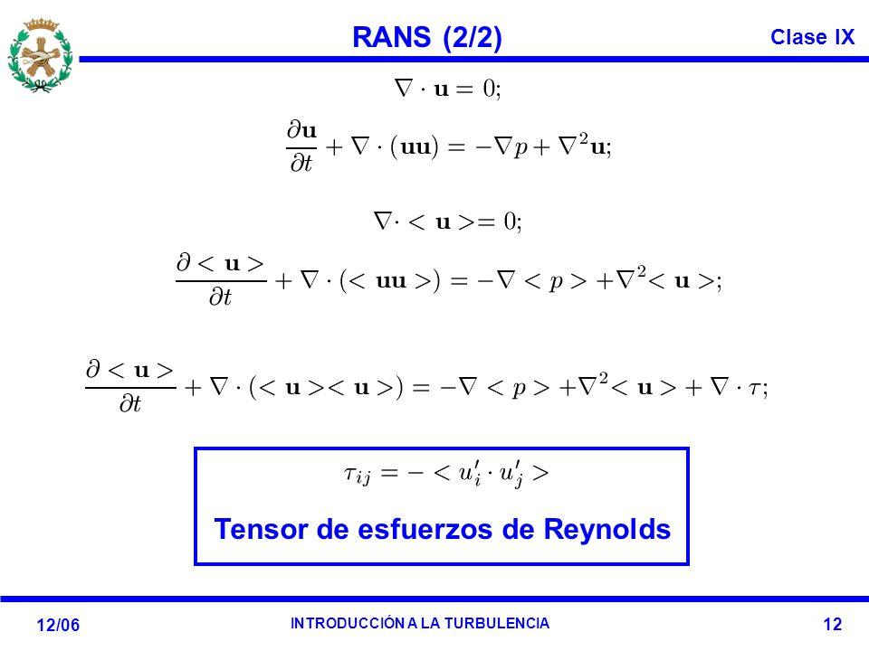 Tensor de esfuerzos de Reynolds