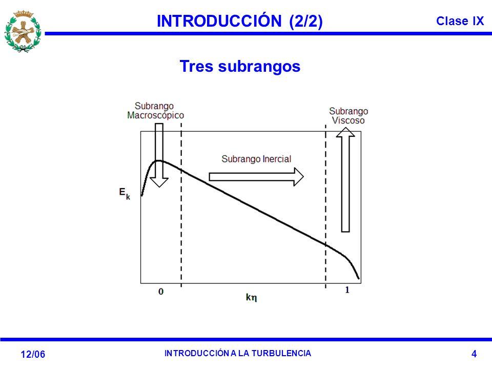 INTRODUCCIÓN (2/2) Tres subrangos