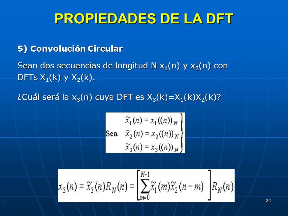 PROPIEDADES DE LA DFT 5) Convolución Circular