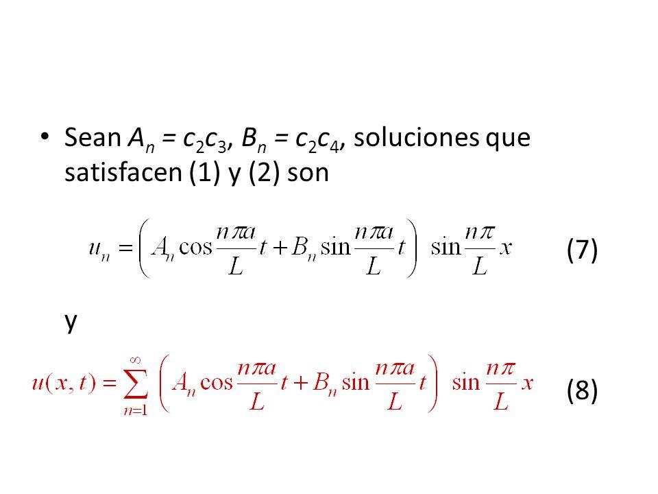 Sean An = c2c3, Bn = c2c4, soluciones que satisfacen (1) y (2) son
