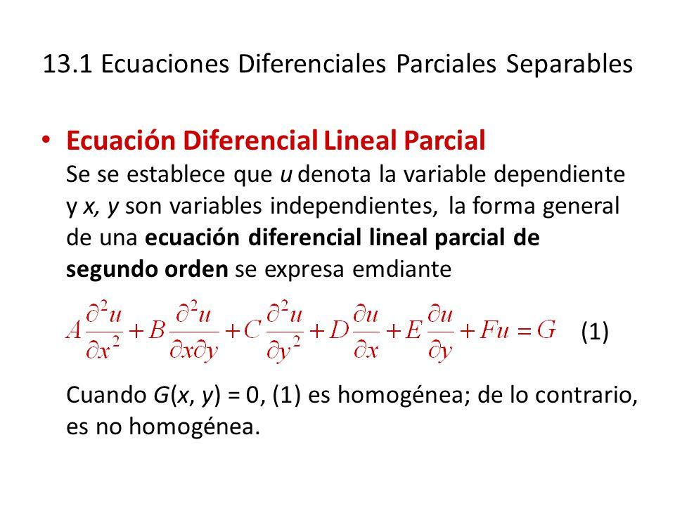 13.1 Ecuaciones Diferenciales Parciales Separables
