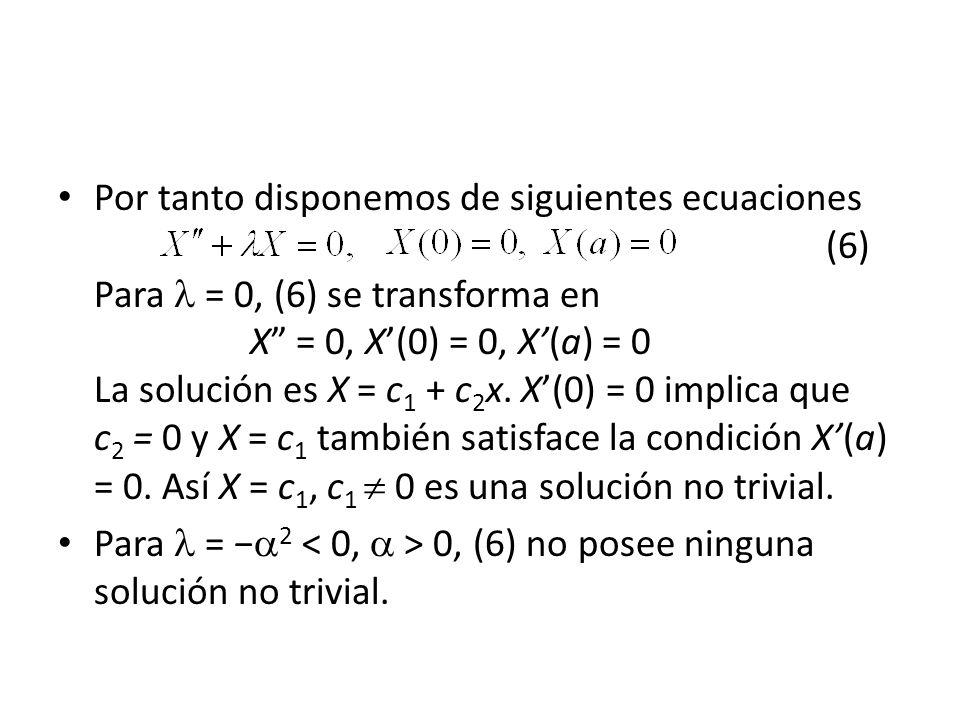 Por tanto disponemos de siguientes ecuaciones