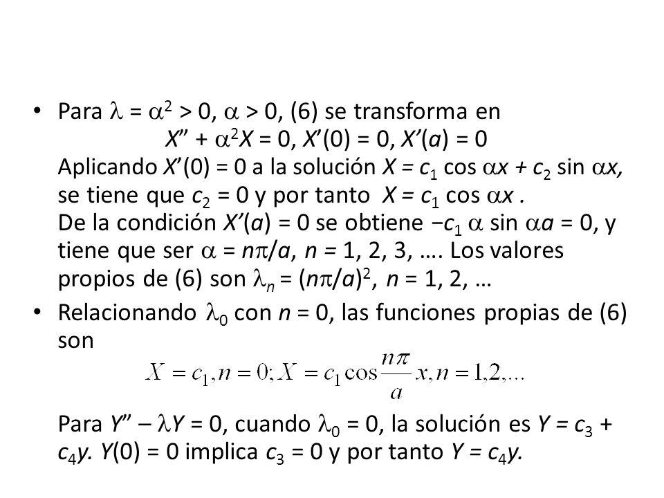 Para  = 2 > 0,  > 0, (6) se transforma en